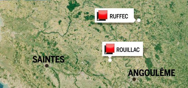 Carte du jeu des 1000 euros (Charente)