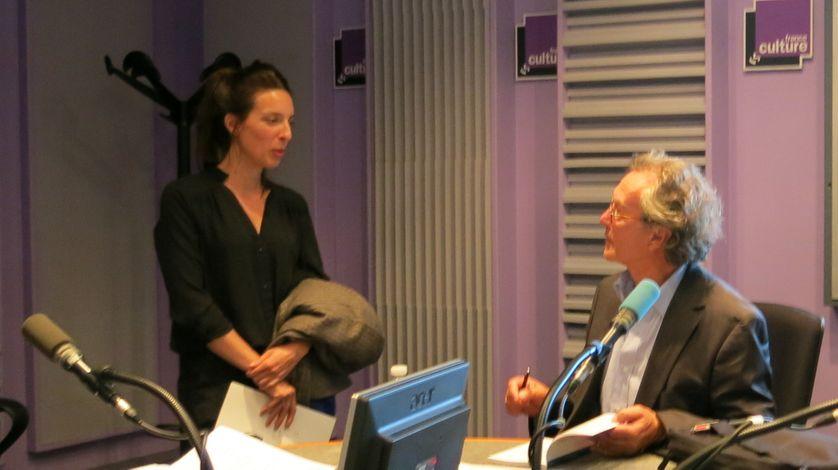 Studio 153, quelques minutes après... Anne-Hélène Dubray & Pierre Péju ( de gauche à droite )