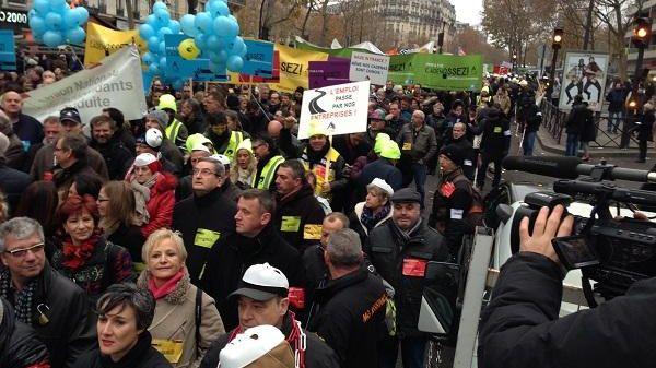 La manifestation de la CGPME à Paris a rassemblé 6.000 personnes selon l'organisation