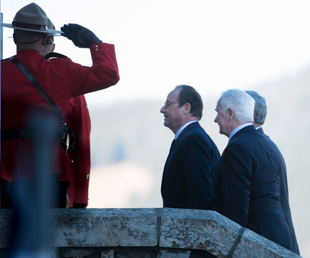 Le président Français est en visite officielle au Canada