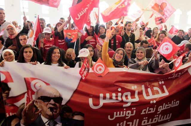Des soutiens de Béji Caïd Essebsi réunis jeudi à Sfax.