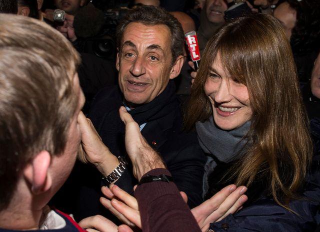 Après l'annonce des scores, Nicolas Sarkozy est allé remercier les militants