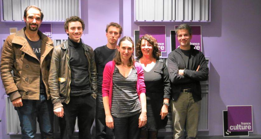 Avec la troupe de « Martyr », Aline Pailler & Olivier Saksik, en charge de la presse
