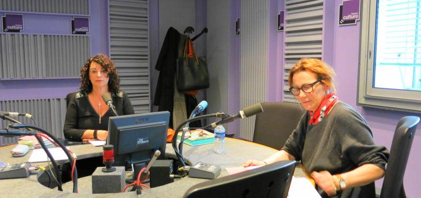 France Culture, studio 153, quelques secondes avant ! Aline Pailler & Marie Desplechin ( de gauche à droite )