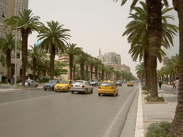 L'avenue Mohammed V à Tunis
