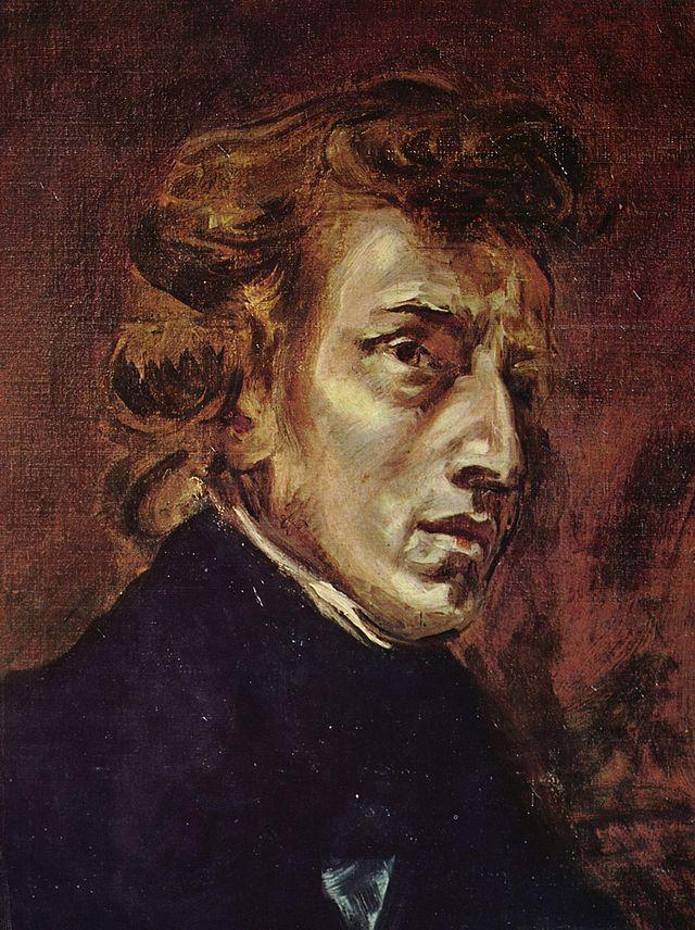 Frédéric Chopin par Eugène Delacroix 1838
