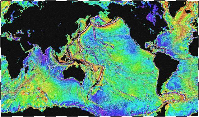 Carte des reliefs sous-marins
