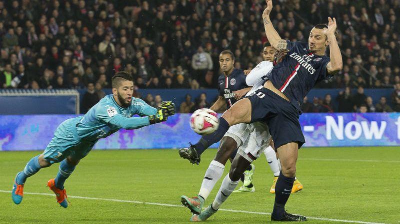 Le gardien du Gym, Mouez Hassen, a dû s'incliner sur penalty face à Zlatan Ibrahimovic