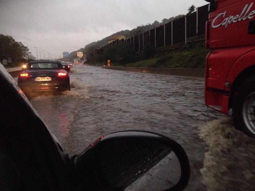 Inondations, pluie, alerte organe, A47 coupée, Givors ce mardi après-midi