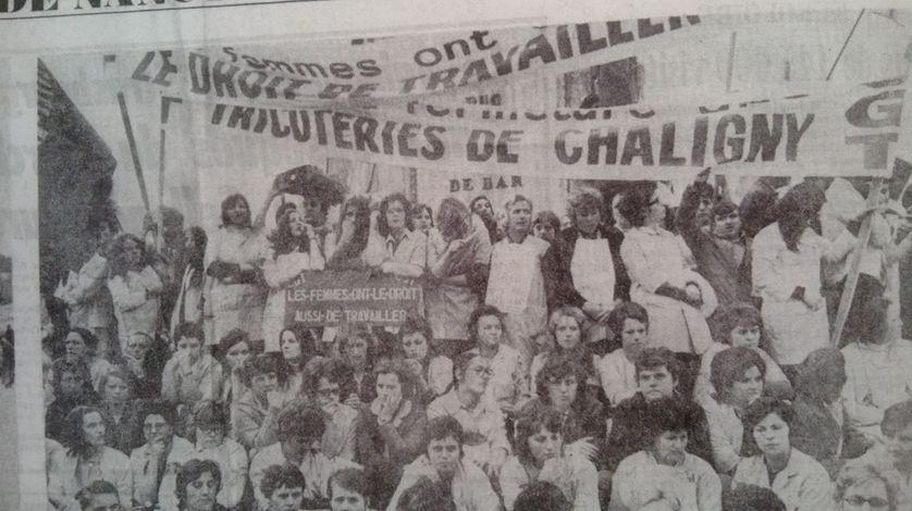 La marche des tricoteuses de Chaligny sur Nancy, le 17 juin 1971, coupure de presse