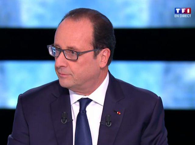 François Hollande sur TF1