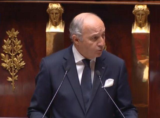 Laurent Fabius face aux députés