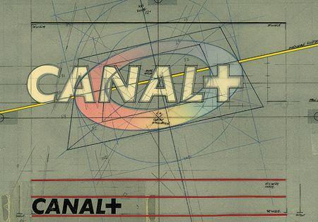Le gabarit du logo de Canal +