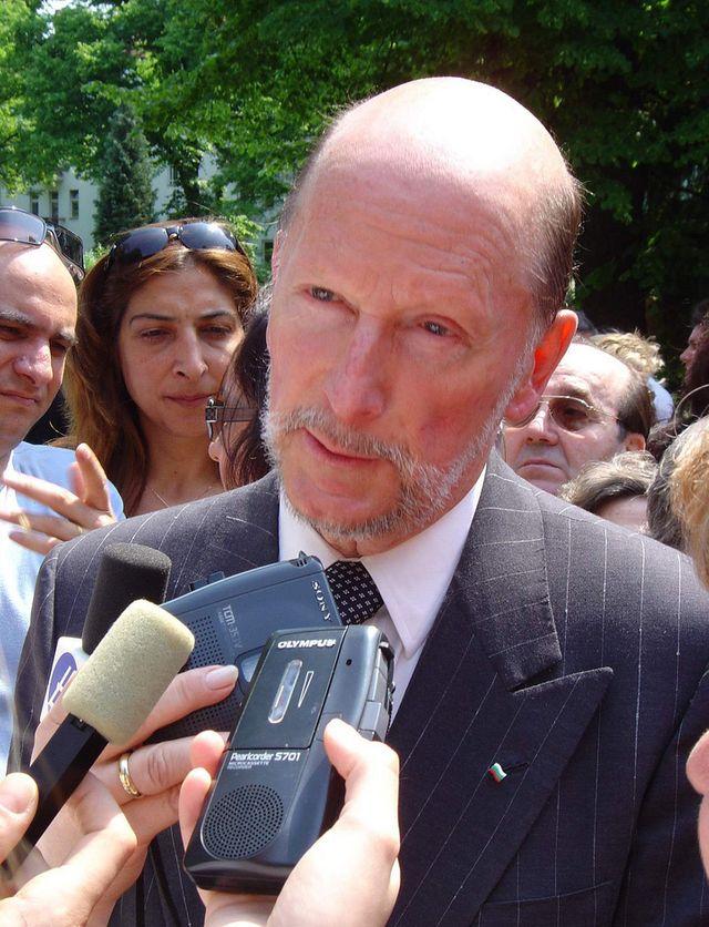 Simeon Sakskoburggotski, l'ex-roi Siméon II, à Berlin en 2005
