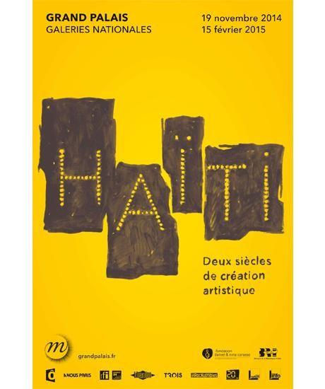 """Affiche exposition """"Haïti"""" au Grand Palais"""