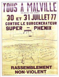 """""""Tous à Malville"""", affiche pour la lutte contre Superphénix, 1977"""