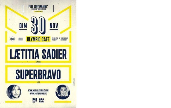Fête souterraine de Laeticia Sadier à l'Olympic Café - concert le 30 novembre