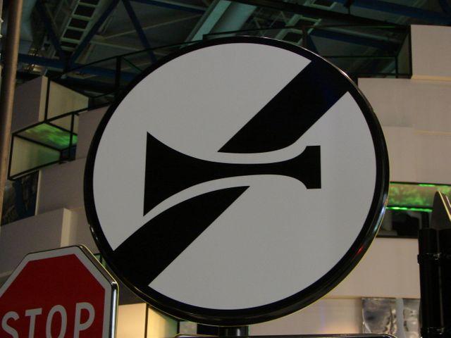 Panneau d'interdiction de klaxonner
