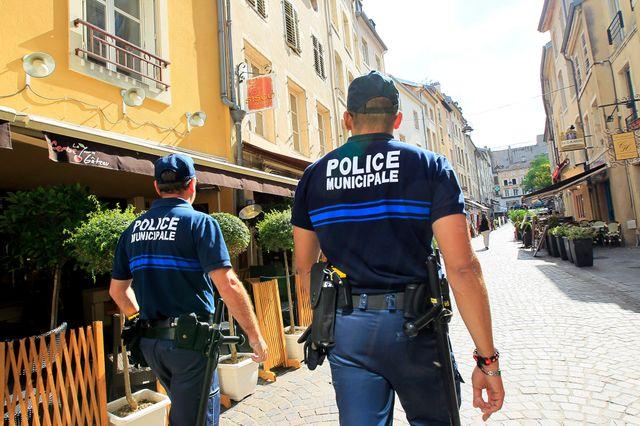 Policiers municipaux à Nancy