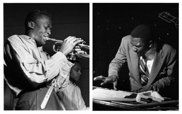 "Miles Davis et J.J. Johnson lors de la session ""Miles Davis All-Stars"" le 20 avril 1953 aux WOR Studios, New York City /Jimmy Smith dans un club de Philadelphie, en mars 1956"