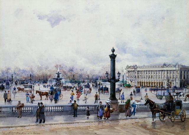 Vue sur la Place de la Concorde, Paris, par Anna Sofia Palm