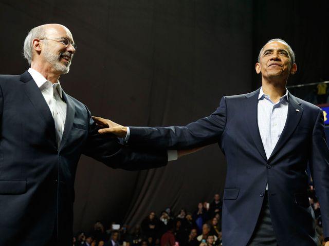 Obama en campagne aux côtés de Tom Wolf en Pennsylvania