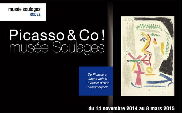 """Exposition """"l'Atelier d'Aldo Crommelynck, de Picasso à Jasper Johns"""" au musée Soulages"""