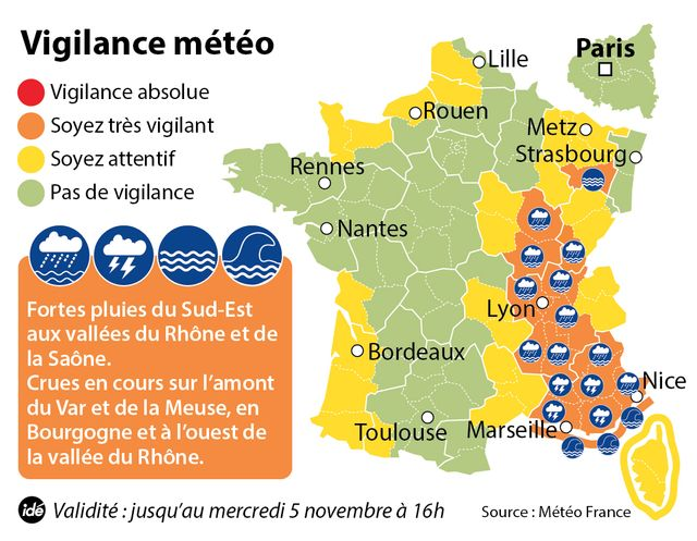 16 départements en alerte orange