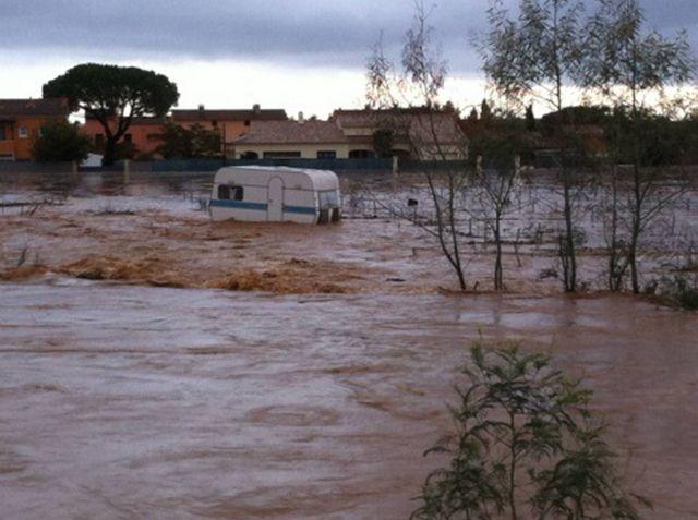 Inondations à La Londe (Var).