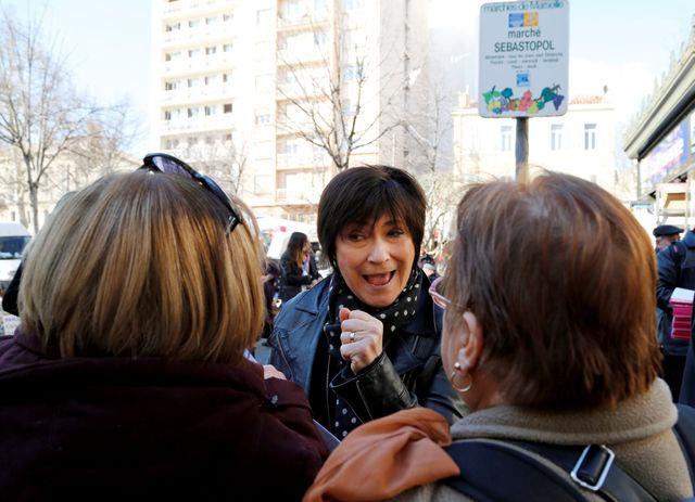 Marie-Arlette Carlotti en pleine campagne