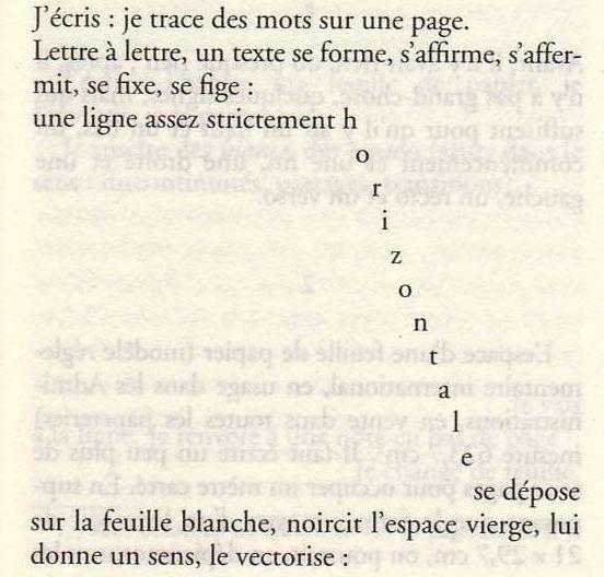 Extrait d'Espèces d'espaces de Georges Pérec , 1974