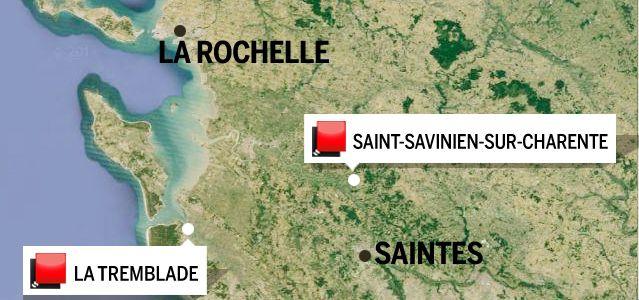 Carte du jeu des 1000 euros (Charente-Maritime)