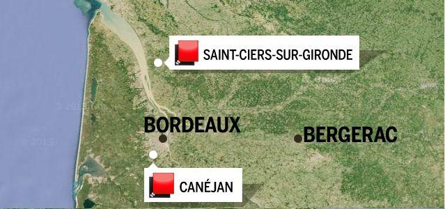 Carte Gironde - Jeu des 1000 euros