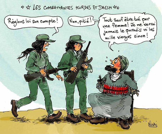 Combattantes kurdes daesh