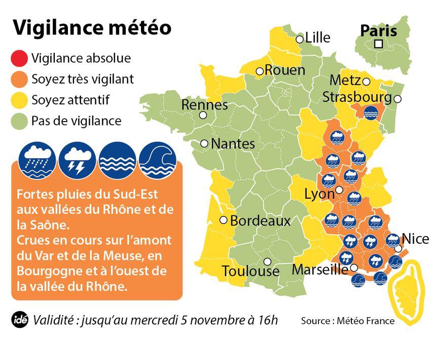 La Loire est en alerte organe aux inondations jusqu'à mercredi 5 novembre, 16 heures.