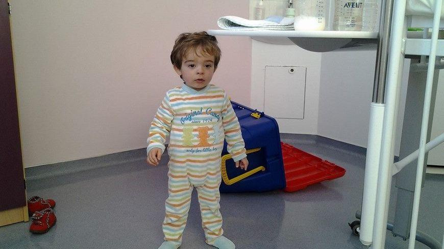 Le petit Baptiste à l'hôpital.