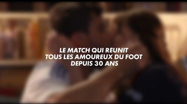 Capture d'écran de la bande annonce du match PSG-OM retransmis en direct le dimanche 8 novembre à 20h50