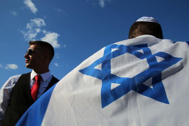 Une manifestation de soutien à Israël à St-Petersbourg (07/14)