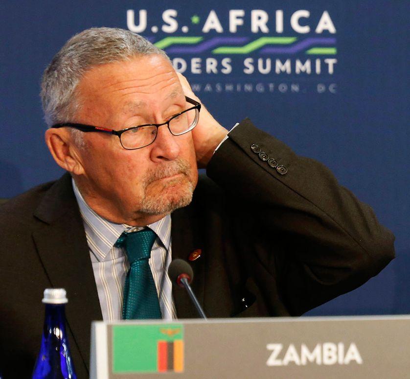 Le vice-président zambien, Guy Scott, le 6 août 2014, dans l'Etat de Washington, aux Etats-Unis