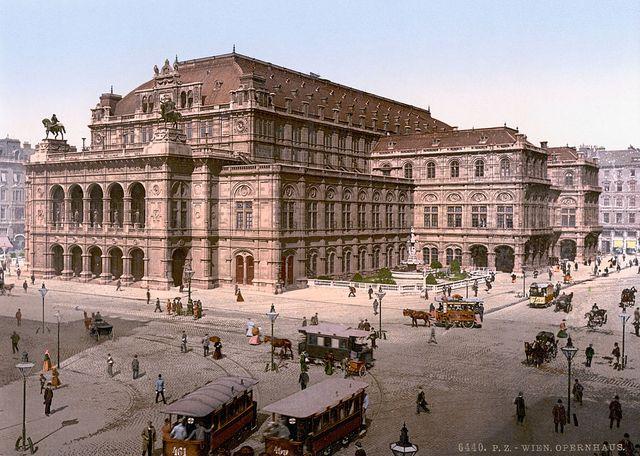 L'Opéra National de Vienne vers 1900