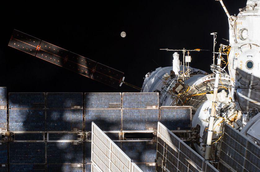 Le module ATV George Lemaître, sur l'ISS.