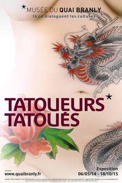 """Affiche exo """"Tatoueurs, tatoués"""" au quai Branly"""