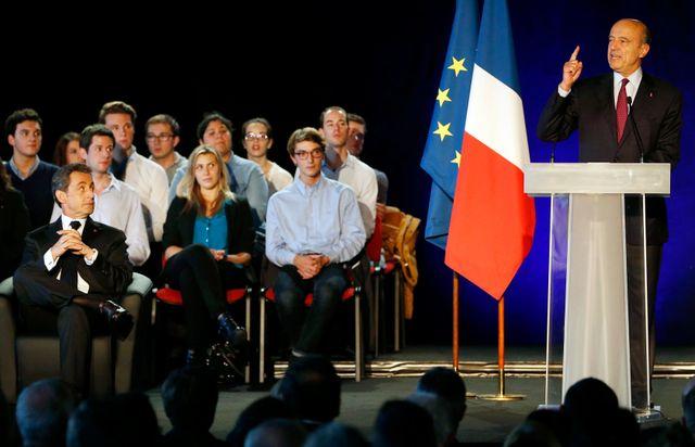 Juppé lors du meeting de Sarkozy à Bordeaux