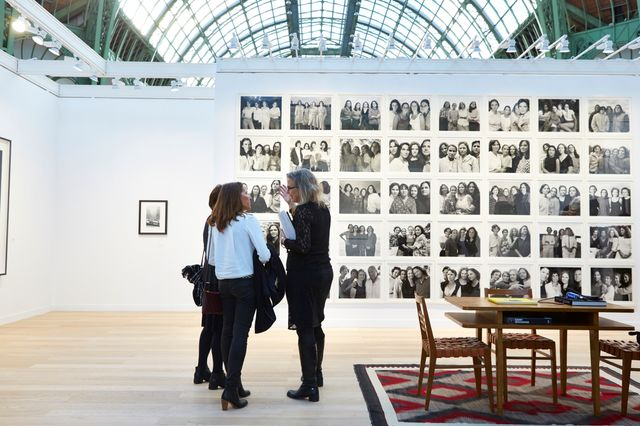 Fraenkel Gallery's Booth with Nicholas Nixon's Brown Sisters' series, the Grand Palais, 12 November 2014