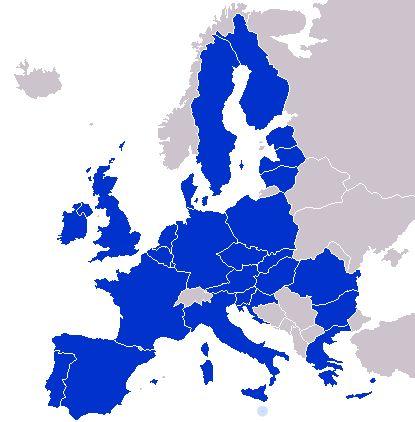 Carte des pays membres d'Europol (au 20 Juillet 2014)