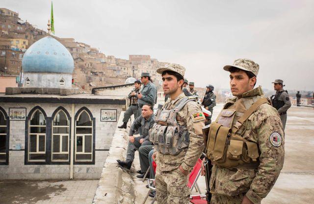 Militaires afghans à Kaboul