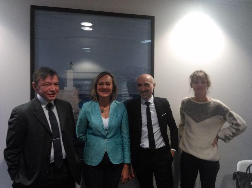 Stéphane Rozès, Cécile Cornudet, Frédéric Lazorthes et Marika Mathieu