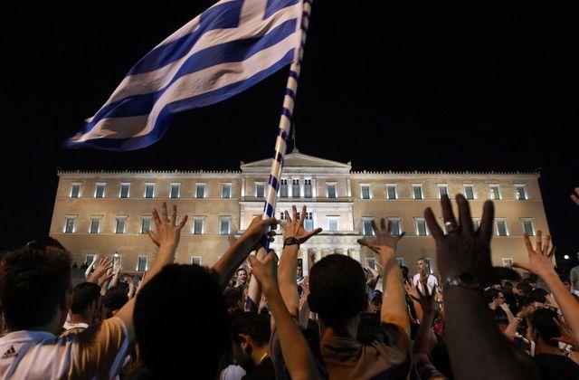 Les Indignés en Grèce, devant le Parlement à Athènes, le 16 juin 2011