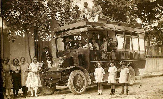 Transport en commun entre Carpentras et Avignon au début du XXe siècle