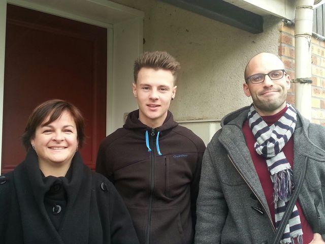 Catherine, Pierre et Arnaud à SOS Village d'enfants à Plaisir
